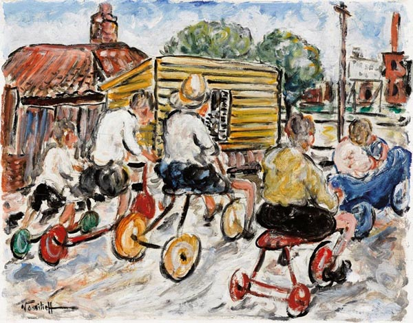 Menzies will hold their first auction for 2017 on 9 February  in their rooms at 1 Darling Street South Yarra, and it will include a work from Danila Vassilieff's most important period, the Soap Box Derby 1938, which according to Menzies head of Australian art Tim Abdallah, is the artist's best work to come onto the Australian art auction market. Estimated at $40,000-50,000 it will have to exceed the top estimate to beat the record for a painting by the artist, which stands at $60,000 (hammer).